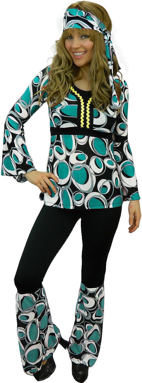 Amazon.com: Yummy Bee - Disfraz de hippy para mujer, talla ...