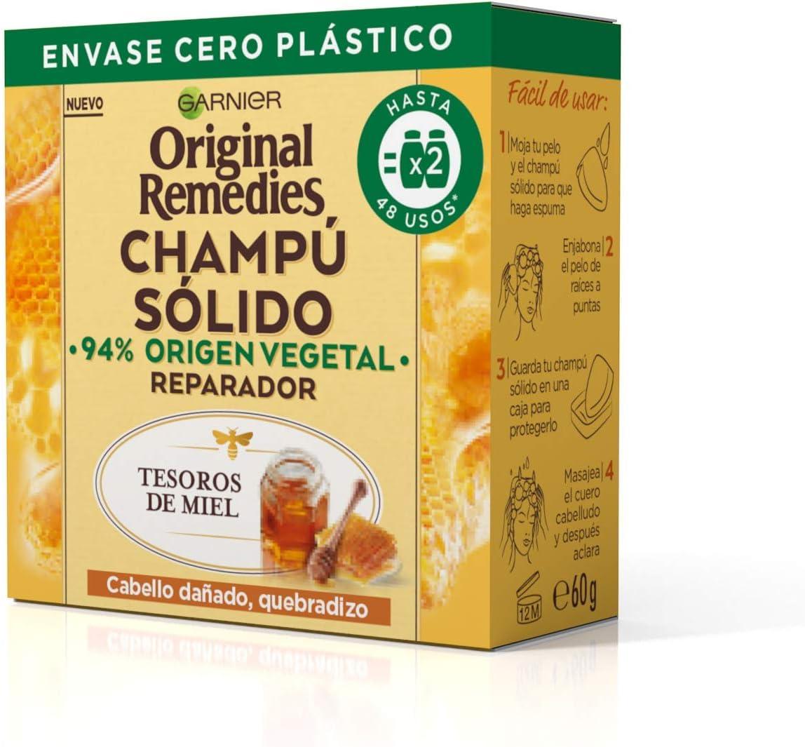 Garnier Original Remedies Champú Sólido - Tesoros De Miel Para Cabello Dañado, Quebradizo (C6455400)