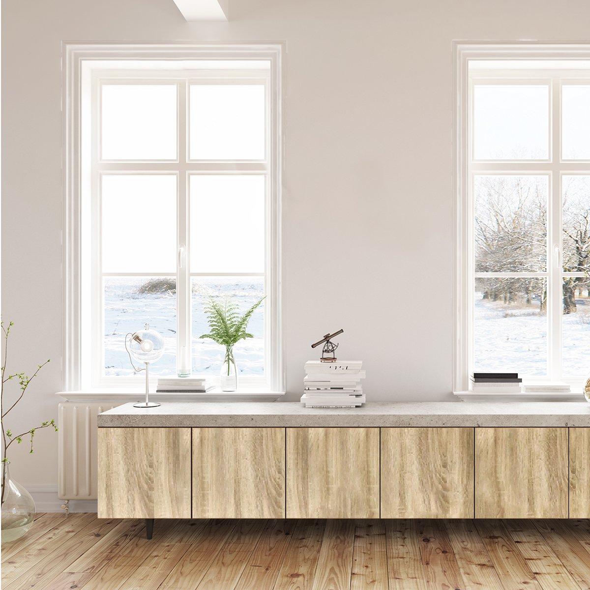 Selbstklebende Möbelfolie mit Holz-Optik für alle Möbel, Flur, Wand ...