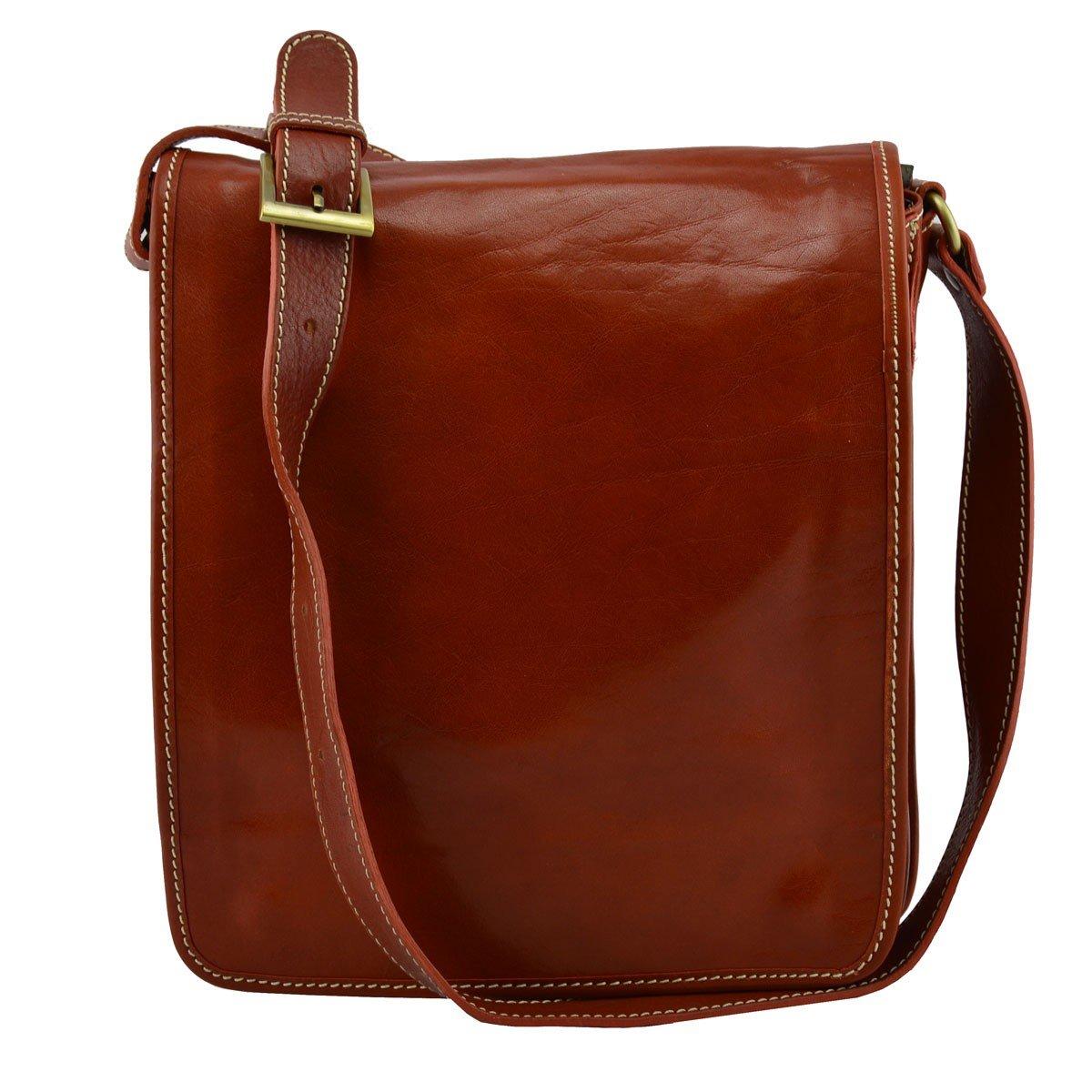 Genuine Leather Crossbody Bag Color Orange