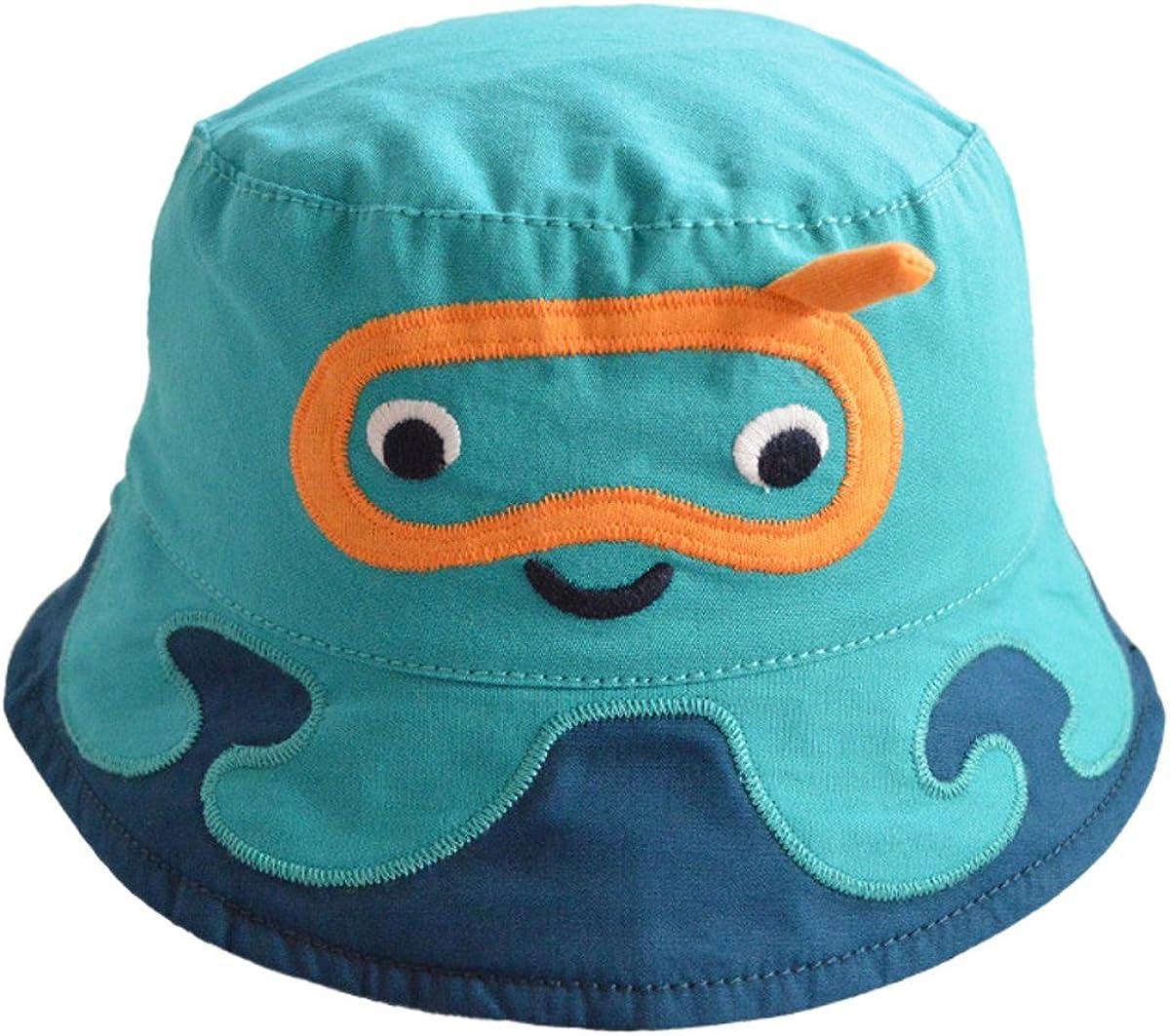 Happy Cherry 8a/ños Gorro Verano de Sol Gorra Bucket Hat con ala Lindo Cartoon Sombrero para Bebes Ni/ña Ni/ño de 3 Meses