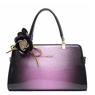 e13aca08b2c0 Amazon | 【G-AVERIL】新型女子バッグ 全3色 エナメル革ハンドバッグ欧米 ...