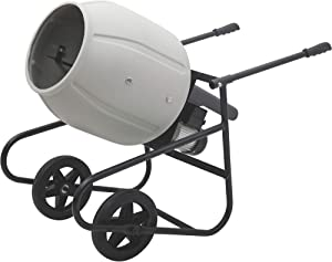 Klutch Portable Electric Cement Mixer -2 Cubic Ft. Poly Drum