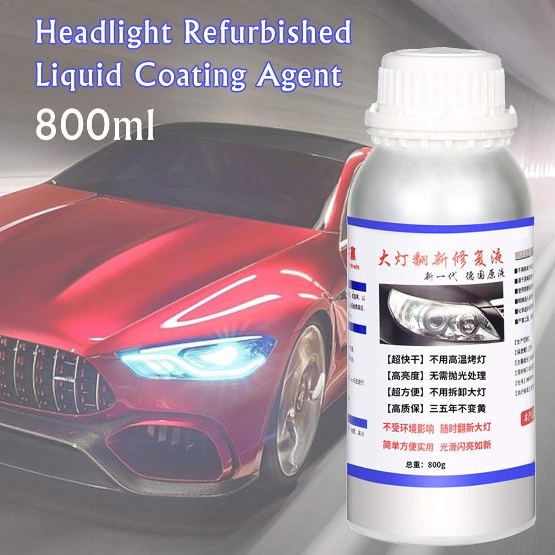 800ml Auto Scheinwerfer Reparaturflüssigkeit Scheinwerfer Sanierung Reparatur Beschichtung Flüssiges Mittel Auto Scheinwerfer Kratzer Reparaturausrüstung Beleuchtung