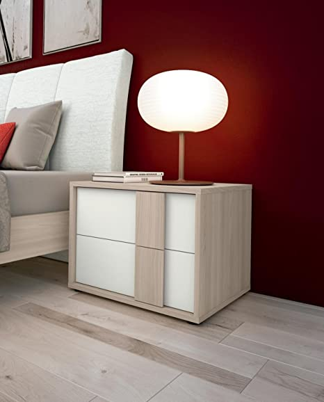 Camere Da Letto Imab.Imab Group Spa Comodino Olmo Natura E Bianco Amazon It Casa E Cucina
