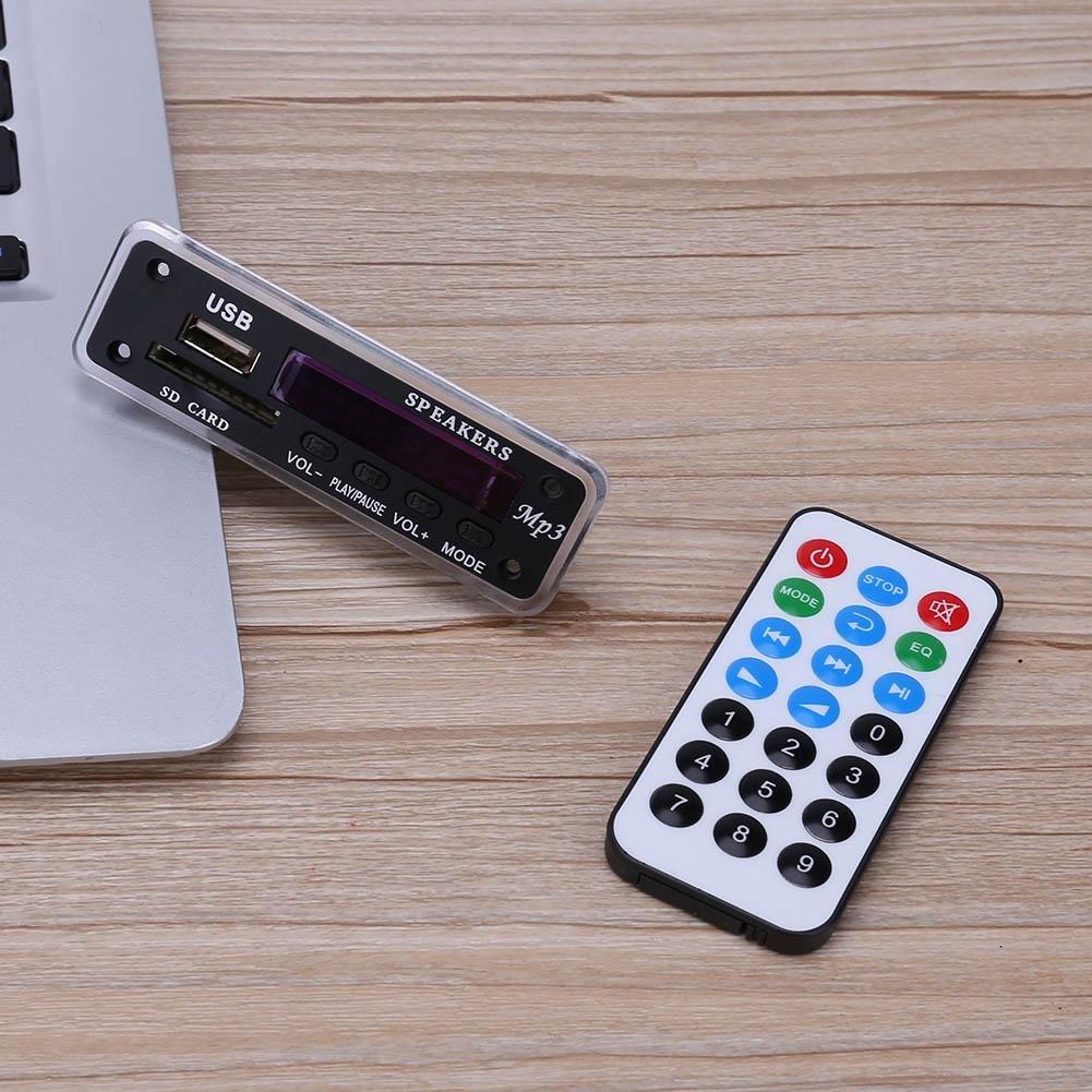 Vanpower 12v Mp3 Wma Decoder Board Audio Module Wireless Background Music Bluetooth Usb Tf Radio For Car Electronics