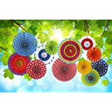 12 Paper Fan Mexican Fiesta/Birthday/Carnival/Kids Party Supplies Favors Colors Hanging Decoration …