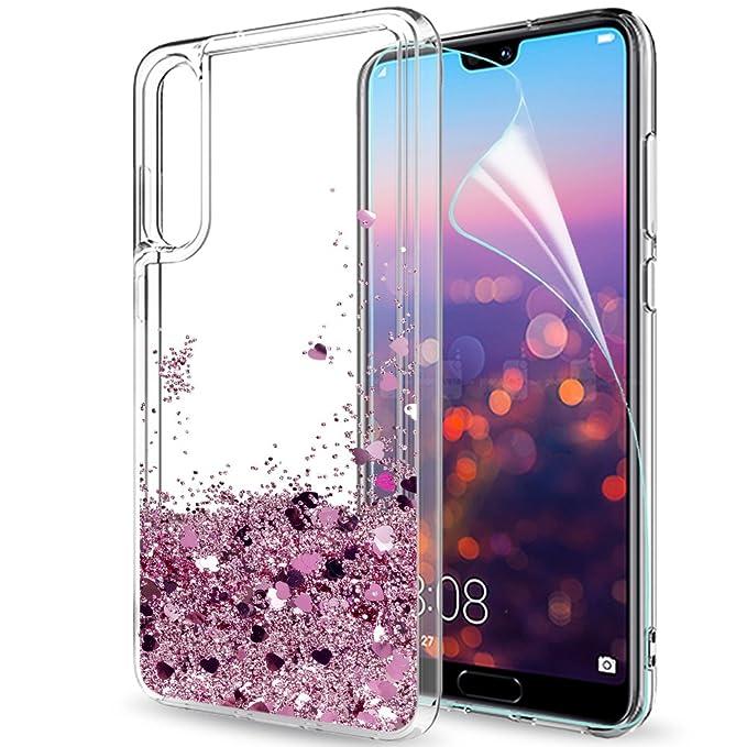 17 opinioni per LeYi Custodia Huawei P20 PRO Glitter Cover con HD Pellicola,Brillantini