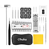Watch Link Remover Kit, Ohuhu 142pcs in 1 Link Remover Repair Tool, Watch Band Strap Link Pin Remover with 3 Extra Pins, Spring Bar Tool Set with Extra 4 Tips Pins, 126PCS Extra Watch Band Link Pins