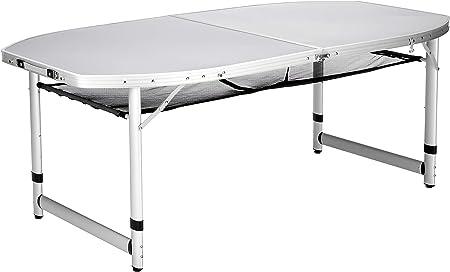 Mesa de camping Campart Travel TA-0795 – 150 x 80 cm – Plegable – Aluminio