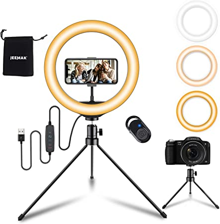 Jeemak Led Ringlicht Mit Stativ Handy 10 Selfie Elektronik