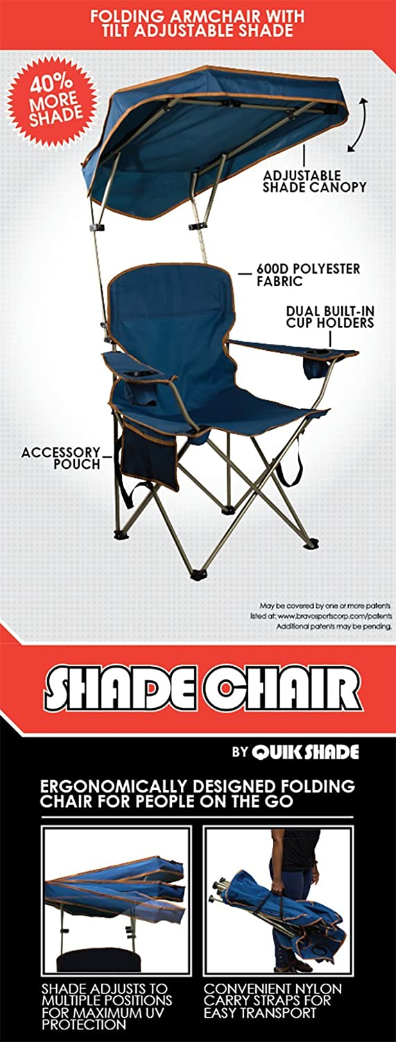 Canopy chair dimensions - Amazon Com Quik Shade Max Shade Camp Chair Navy Sports Outdoors