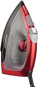 Brentwood Steam Iron Non-Stick, 1000-watt, Red