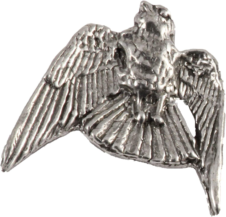 Pewter Falcon Kestrel Falconry Brooch Pin Bird of Prey