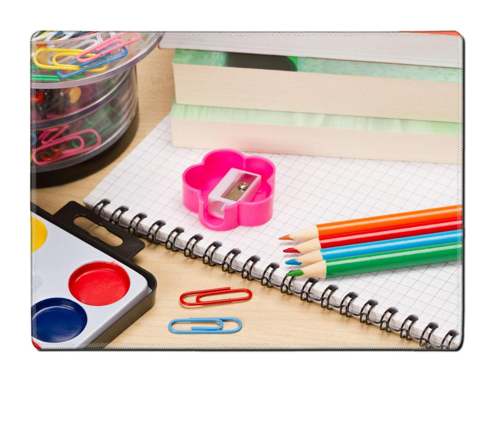 MSD Place Mat Non-Slip Natural Rubber Desk Pads Design: 30409051 School Supplies on Table by MSD (Image #1)