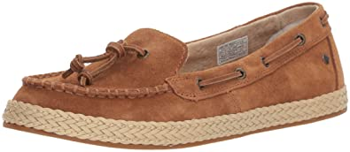 Womens Channtal Loafer Flat, Chestnut, 10 M US UGG