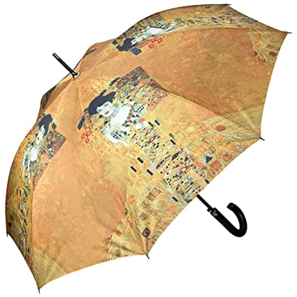 VON LILIENFELD® Paraguas Mujer Automática Motivo Arte Gustav Klimt: Adele