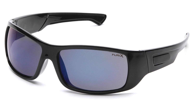 Pyramex Furix Safety Glasses, Black Frame/Blue Mirror Anti-Fog Pyramex Safety SB8575DT