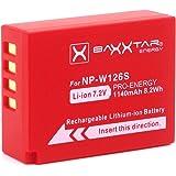 BAXXTAR Pro Battery for Fujifilm NP-W126s NP-W126 (real 1140mAh) for FinePix HS30EXR HS33EX X100F X-A5 X-A10 X-E3 X-ES2 X-H1 X-M1 X-Pro1 X-Pro2 X-T2 X-T3 X-T10 X-T20 X-T30 X-T100