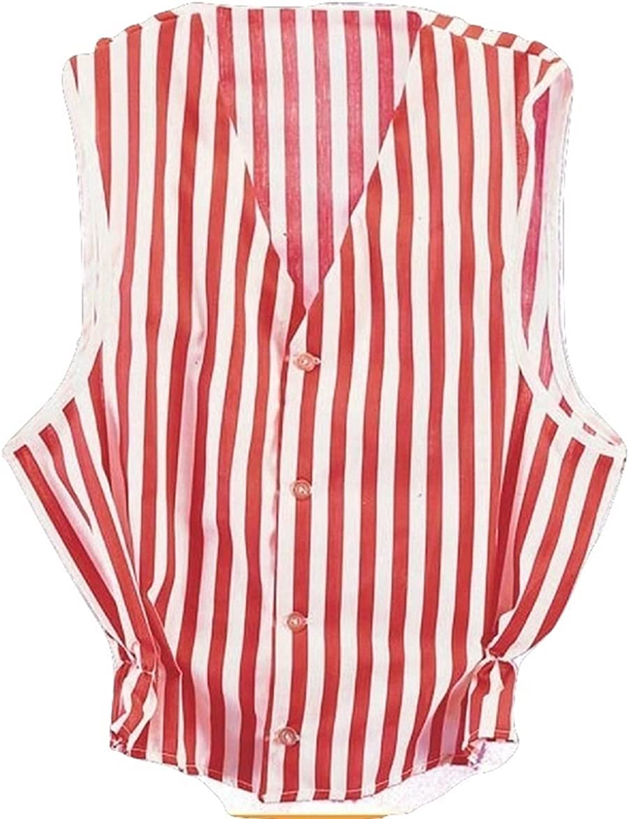 Roarin/' 20/'s Old Time Adult Red and White Striped Costume Jacket Size XL