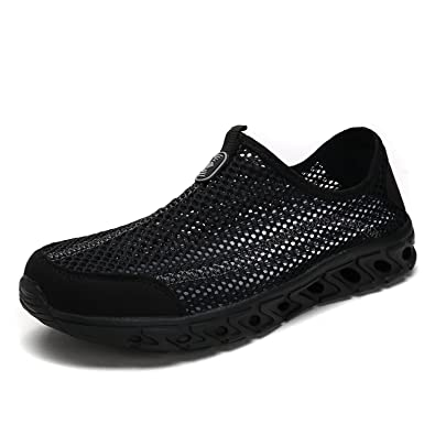 d0b1862bdd57 DREAM PAIRS Women s 160712-W All Black Athletic Slip On Water Shoes Size 5 M