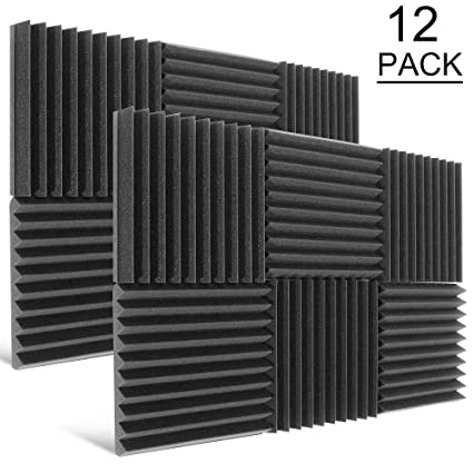 Dekiru Acoustic Foam Protection Panels 1 X 12 X 12 Sound Proof Padding Foam Panels Studio Foam Wedge Tiles Fireproof Top Quality Ideal For Home