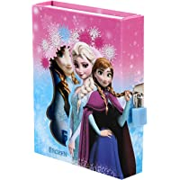 Asera Pink Frozen Lock Diary for Girls Gifts Options (Small Size 16.5*13*3 cm)