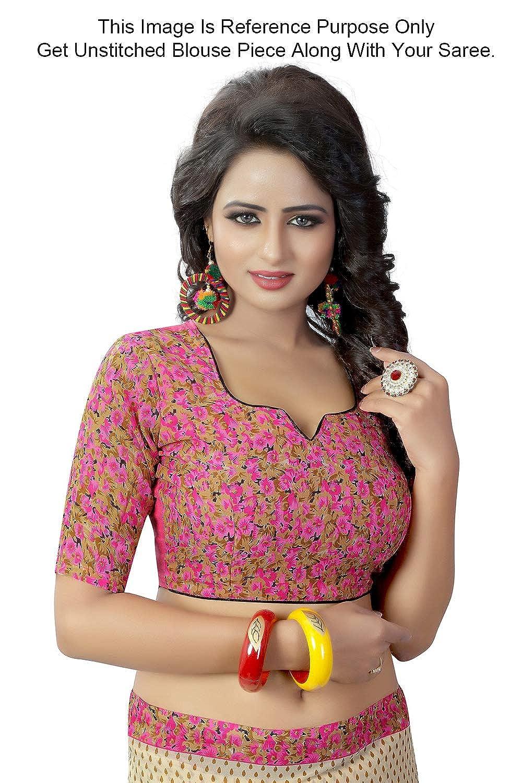 Peegli Saree Sari pour Femmes en Georgette Imprim/ée Sari pour Toutes Les Occasions