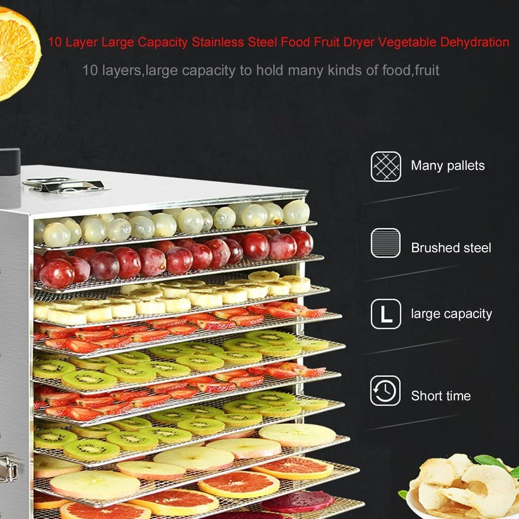 Ivation 10 Tray Premium Stainless Steel Electric Food Dehydrator Machine