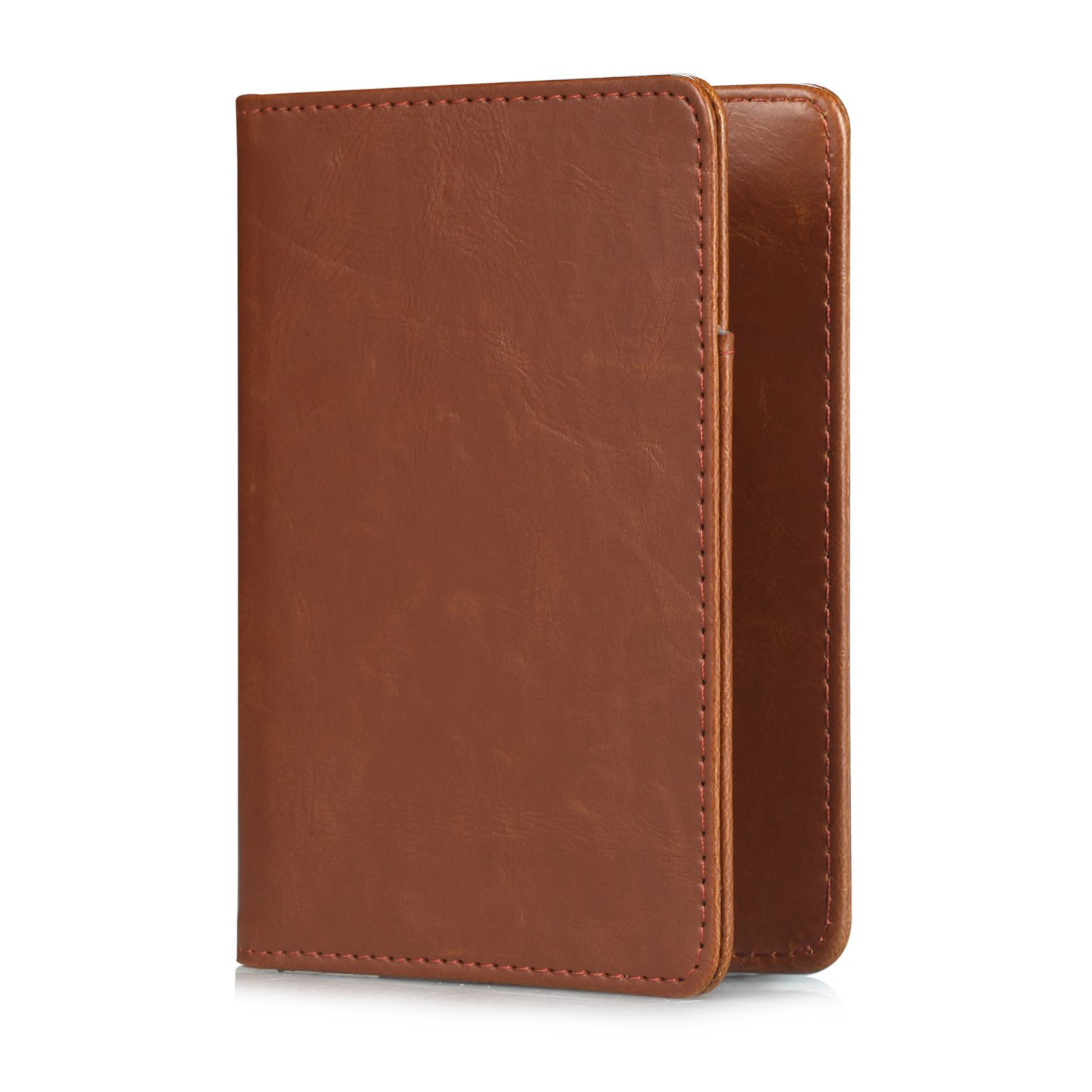 Business Cards Boarding Passes,01 Brown Credit Cards Premium Vegan Leather RFID Blocking Case Cover Securely Holds Passport Anvas Passport Holder Travel Wallet