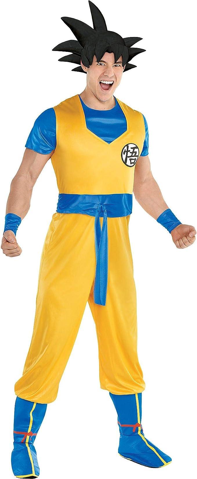 Party City Dragon Ball Z Goku Disfraz para Adultos, tamaño ...