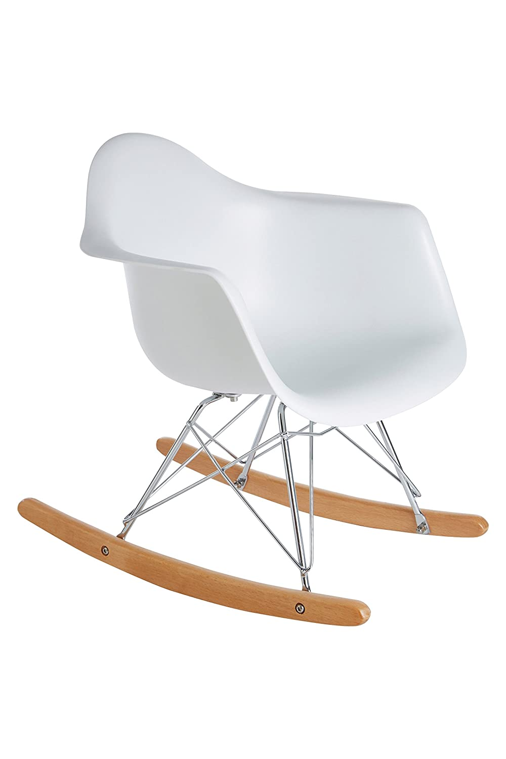 Premier Housewares Kids Rocking Chair, Plastic - White 2404512