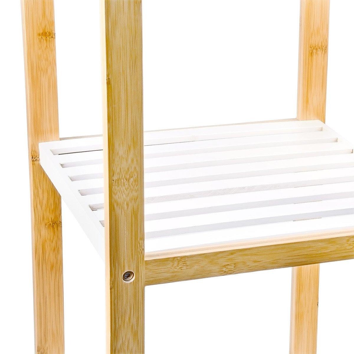 Relaxdays 10017161 /Étag/ère en Bambou avec 4 Niveaux