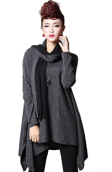 BTCD Frauen Fallen Und Winter War Dünn Kleid Damen Erhöhen Plus Dünger  Kleid Mädchen Mode Erhöhen aa0644d84b