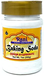 Rani Baking Soda (SODIUM BI-CARBONATE) 7 Ounce (200g) ~ Used for cooking, NON-GMO | Indian Origin | Gluten Friendly