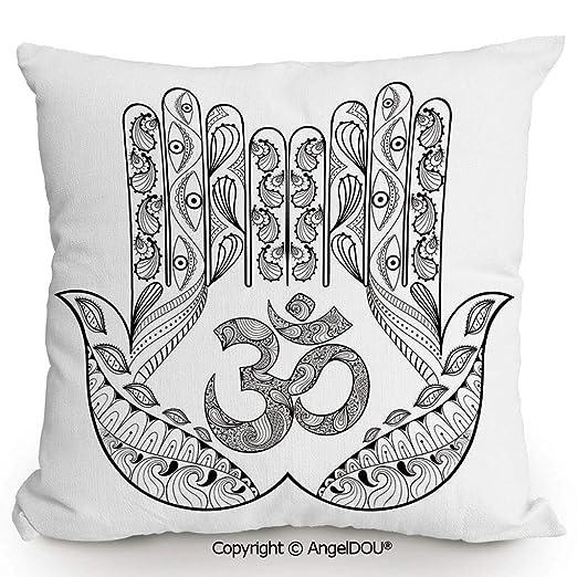 AngelDOU - Cojín cuadrado de lino y algodón para la cintura ...