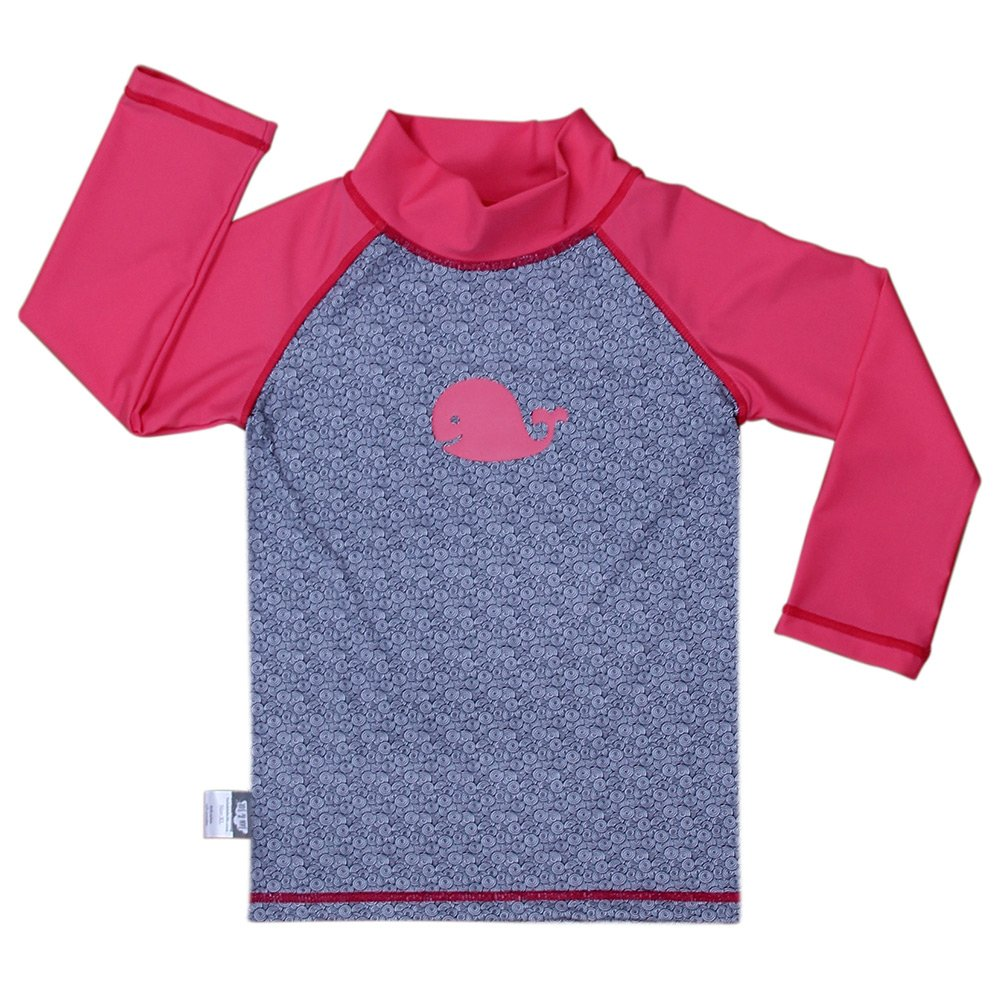 Baby Rash Guard UPF 50 Sun Protection Shirt (Shirt S: 0 - 6m, whale) Twinklebelle design inc 21-03S