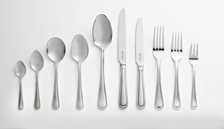 Silver Viners Bead Tea Spoon 13.9 x 3.1 x 1.8 cm Stainless Steel