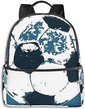 Mochila de poliéster Resistente con diseño de balón de fútbol para ...
