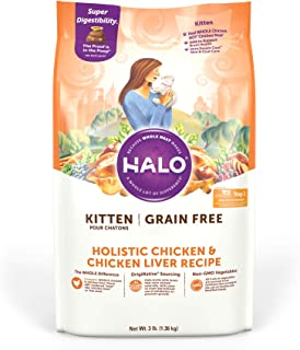 product image for Halo Grain Free Natural Dry Cat Food, Kitten Recipe