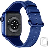 JFdragon Compatible with Apple Watch Bands 38mm 40mm 42mm 44mm Accessories Women Men Genuine Leather Strap for iwatch SE Seri