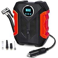 $25 » Digital Air Compressor for Car Auto Pump Portable Tire Inflator with LED Light DC 12V, Red