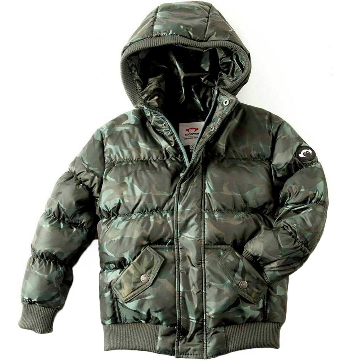 Appaman Boys' Puffy Coat, Jungle Camo, 3T