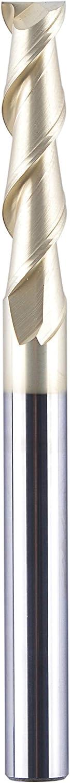 SpeTool 1//4 End Mill with ZrN Coat 2 Flutes CNC Spiral Router Bit for Aluminum AU UP Cut Non-Ferrous Metal