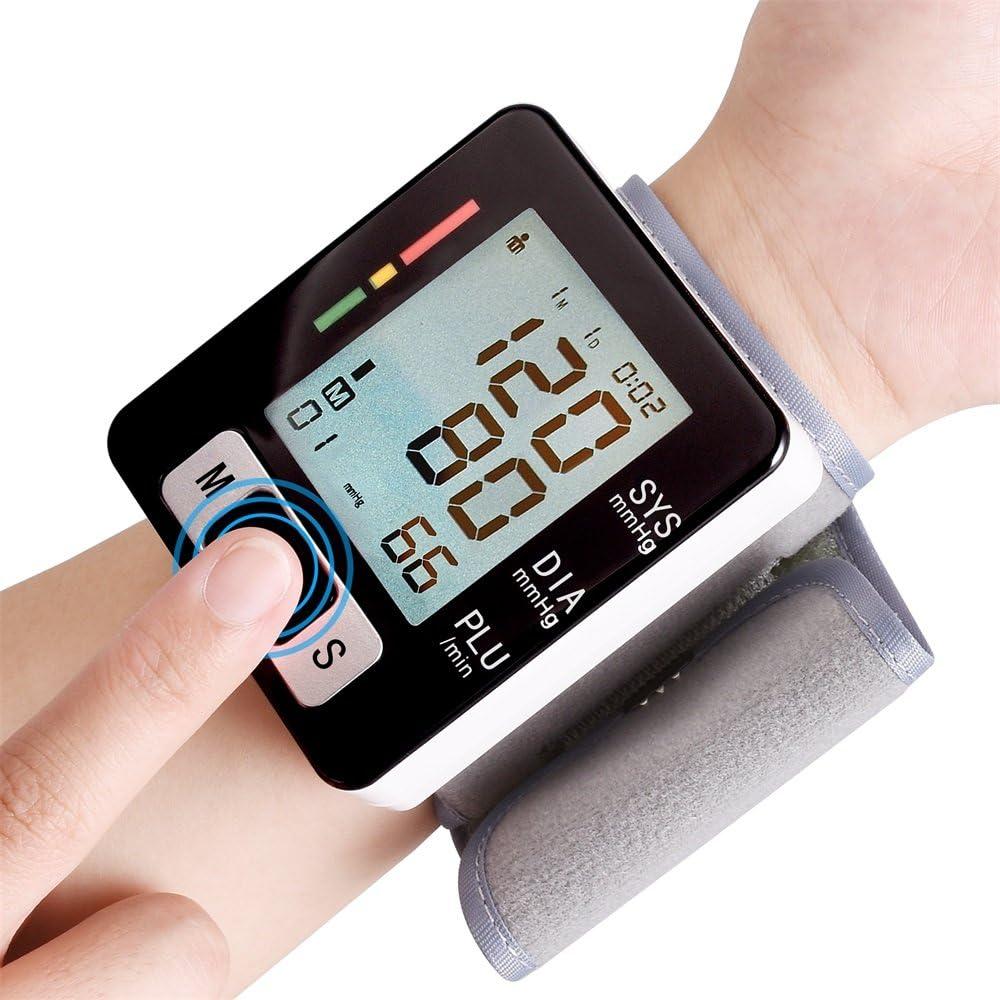 SISHUINIANHUA Equipo médico de Pulsera automático de la presión Arterial Monitor Medidor tonómetro de muñeca Esfigmomanómetro Digital Monitor de PA