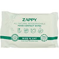 Zappy All Natural Food Contact Wipes Value Pack (Value Pack of 18), 540 count (Pack of 36)