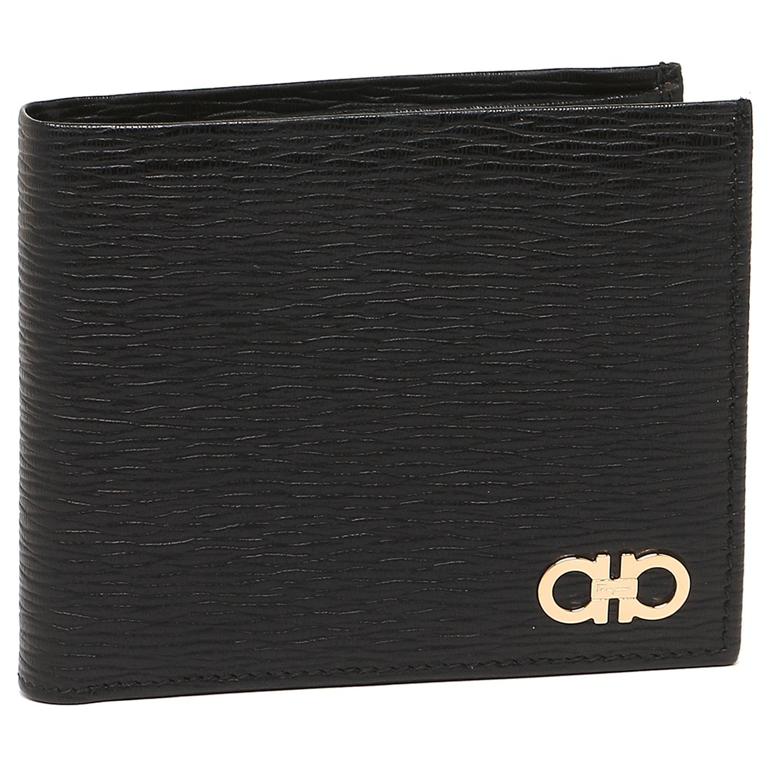 [フェラガモ] 折財布 メンズ Salvatore Ferragamo 66A065 0685980 001 ブラック [並行輸入品] B079GHM9N3