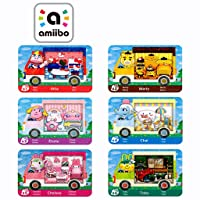 6PCS NFC Amiibo Rare RV Villager Furniture Cards for Animal Crossing New Horizons,New Horizons Villagers Cards, Compatible with Nintendo Switch/Lite/Wii U/New 3DS