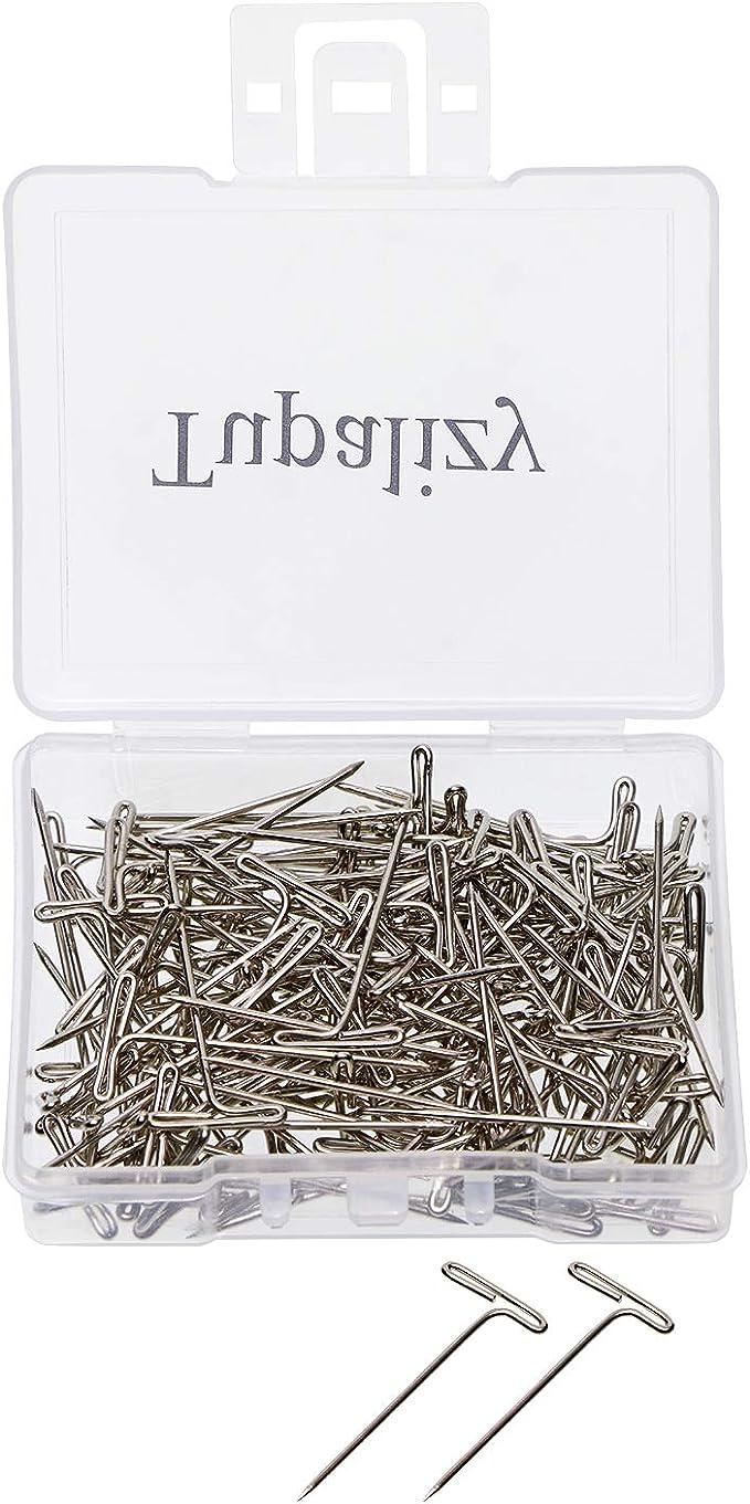 400Pcs 21Ga T-Pins Antique-Copper Plated Steel 1.3-Inch Head Pins