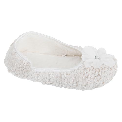 b6d9d4782a6 Universal Textiles Womens Ladies Flower Design Ballet Slippers (5-6 UK) (